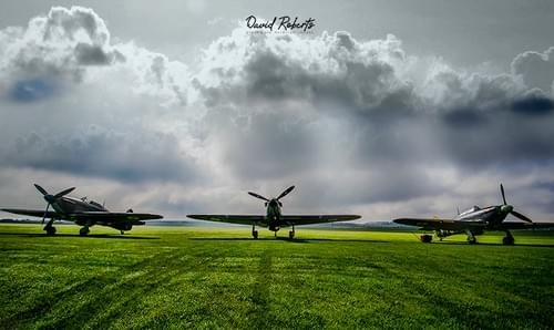 0056 Three Hawker Hurricanes