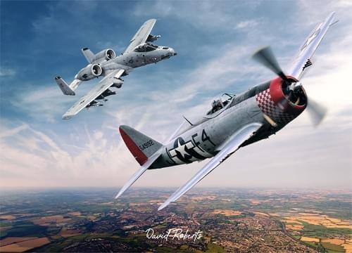 0302 Republic P47 Thunderbolt and Fairchild A10 Thunderbolt