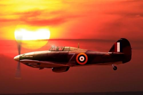 0054 Hawker Hurricane at sunrise