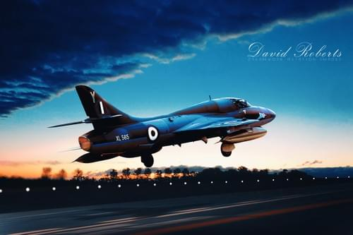 0113 Hawker Hunter getitng airborne