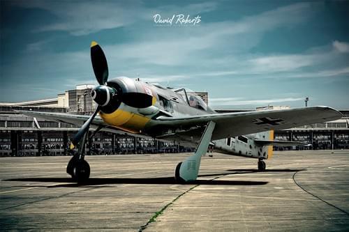 0377 Focke Wulf 190 FW190  at Templehof unspun