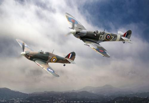 0033 Spitfire and Hurricane