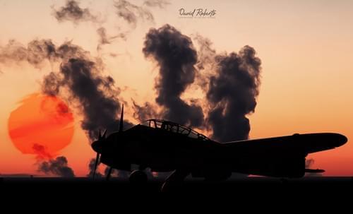 0363 ME 410 Hornet at sunset