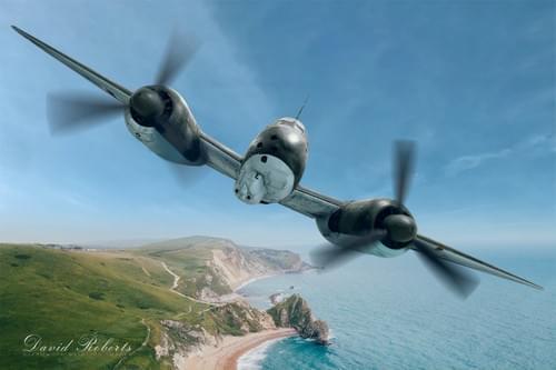 0046 JU88 over the English Coast