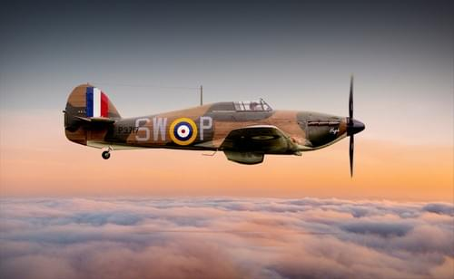 0175 Hawker Hurricane above the clouds