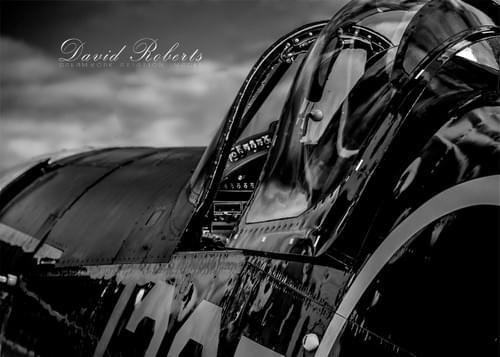 0122 F4U Corsair cockpit area