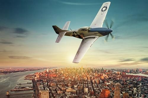 0076 P51D Mustang over New York