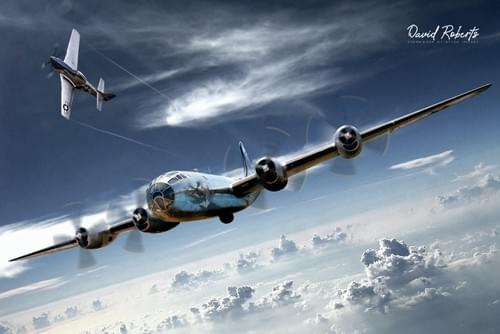 0297 B29 Superfortress and P51 Mustang