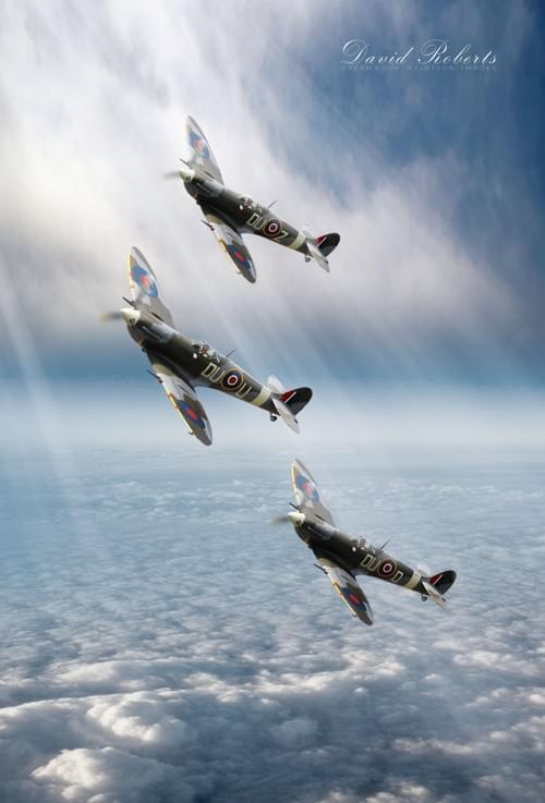 0256 Spitfires in sunlight ONLY IN PORTRAIT ORIENTATION