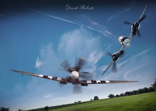 0036 JU88 chasing Spitfire