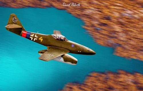 0346 ME262 over forests