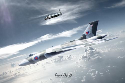 0292 Vulcan accompanied by Lightning T5