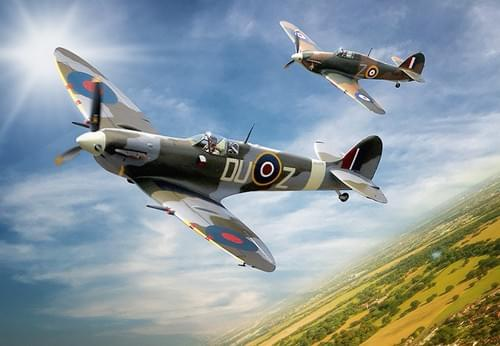 0161 Spitfire and Hurricane