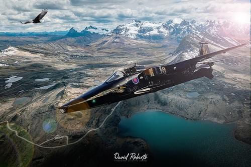 0387 Jaguar and eagle