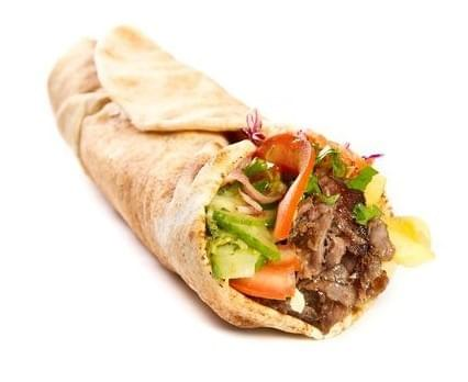 Tikka Beef skewer Wrap