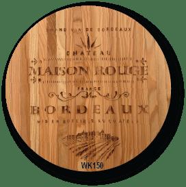 Wine Barrel Lid Serving Board - WK150