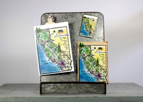 Notecard California San Francisco featuring hand-drawn artwork by Alden Olmsted