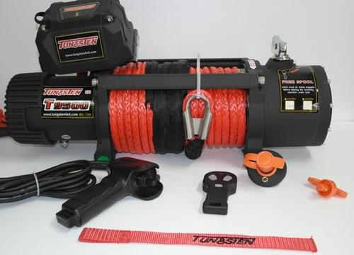 Tungsten Winch 12000lbs + Synthetic cable + Cut off