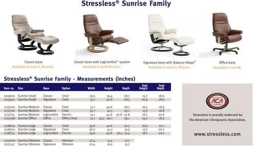 Stressless Sunrise Recliner starting at: