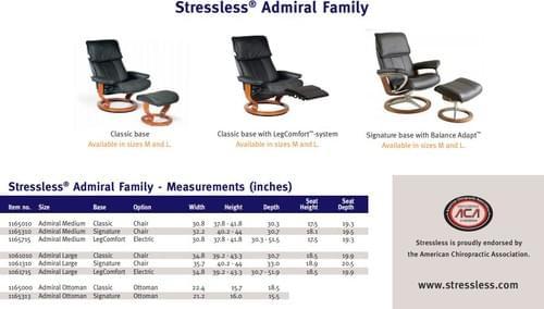 Stressless Admiral Recliner starting at:
