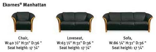 Ekornes Manhattan Sofa Group  starting at: