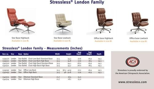 Stressless London Recliner starting at: