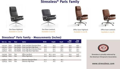 Stressless Paris Recliner starting at: