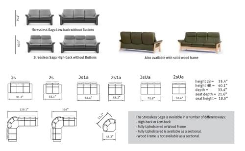 Stressless Saga Sofa starting at: