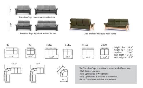 Stressless Saga Sofa Group starting at: