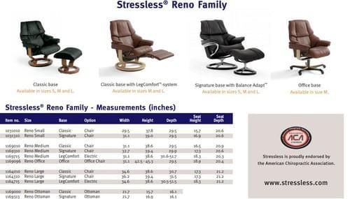 Stressless Reno Recliner starting at: