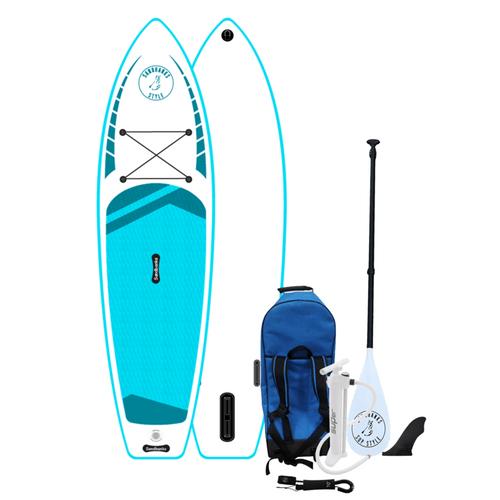 Elite Pro 10'6'' x 32'' x 4.75'' iSUP paddleboard package turquoise