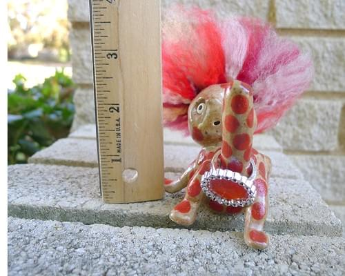 Polka-Dot Funny Gift Ring Holder, Bachelorette Party Phallic Gift Jewelry Display