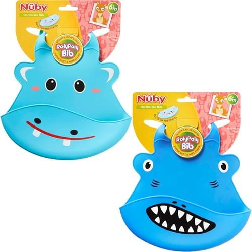 NUBY RolyPoly Animal Face Bib