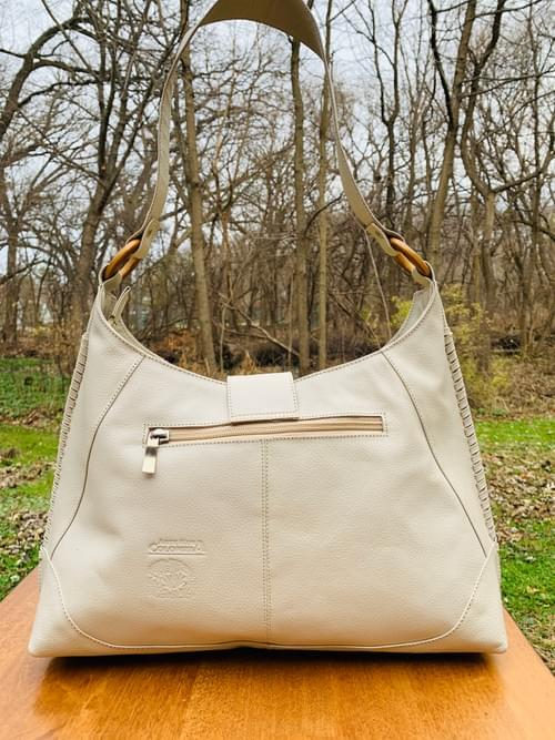 White Leather Mola Bag