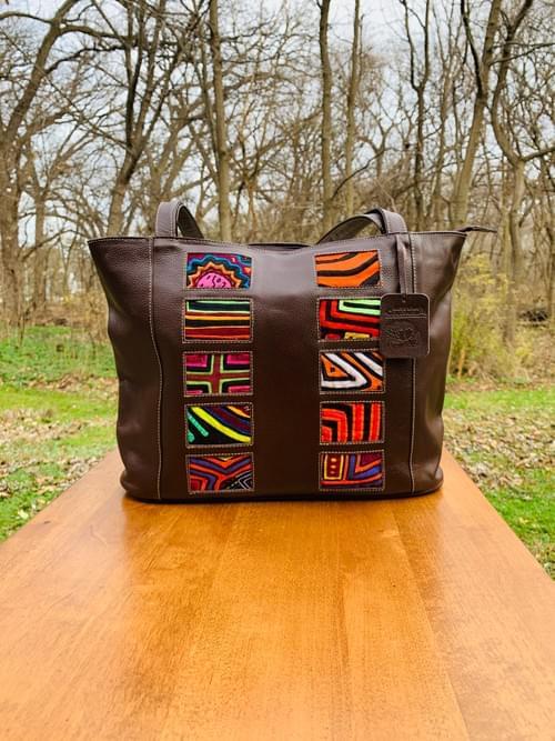 Brown Leather Mola Bag