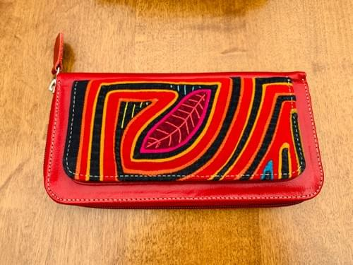 Red Leather Mola Wallet