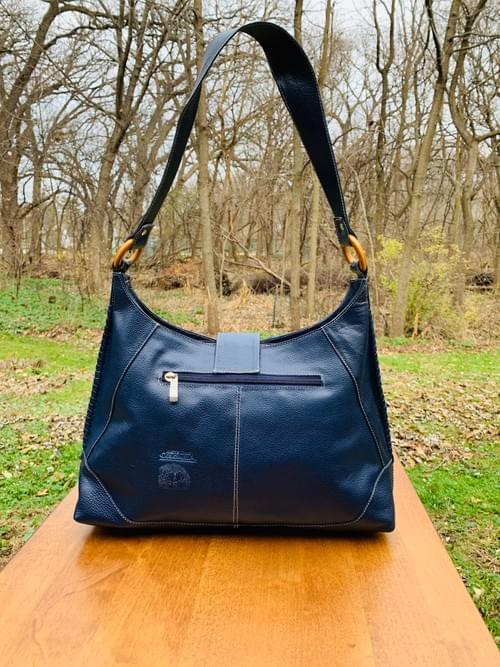 Blue Leather Mola Bag