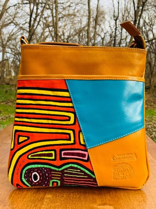 Yellow Mola Purse