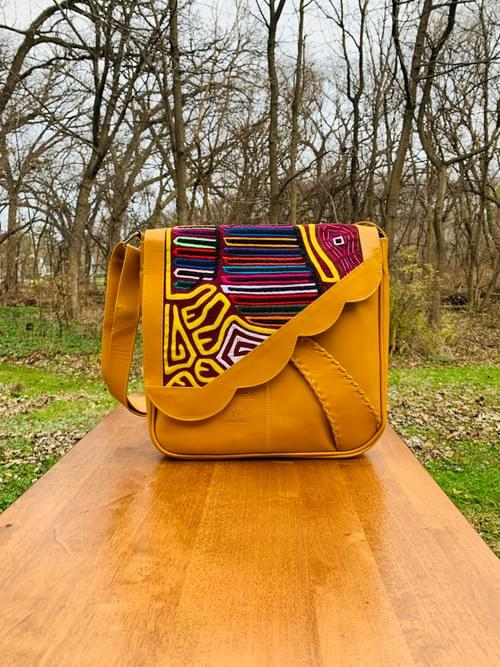Yellow Leather Mola Bag