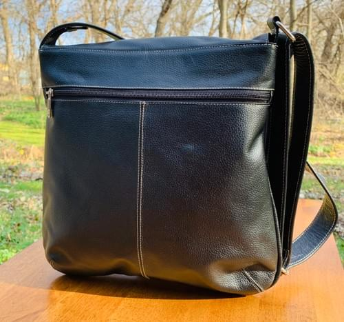 Black Leather Butterfly Bag