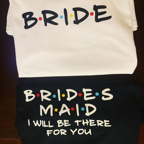 Friends Themed Bridal Party Shirts