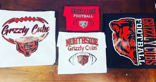 Northside Grizzly Cubs Football Shirts