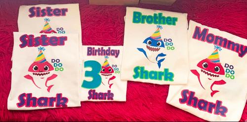 Baby Shark Themed Birthday Shirts