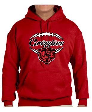 Northside Grizzlies Football Hoodies