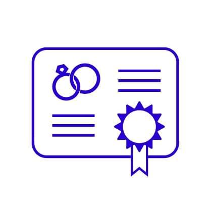 Certificado de matrimonio - Honduras