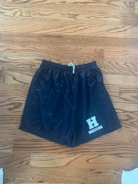 "Navy ""H"" Athletic Shorts -Run small more like youth sizes"