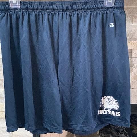 Navy Bulldog athletic shorts - Sizes Adult S,M, Youth Large