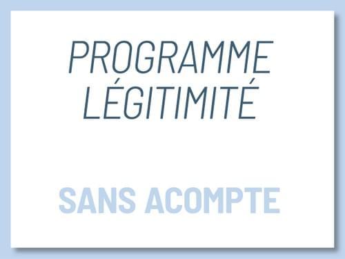 Programme Légitimité - Paiement unique