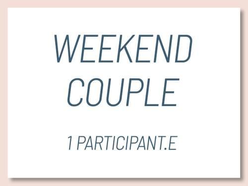 """Weekend Atelier """"Réinventons notre couple"""""""