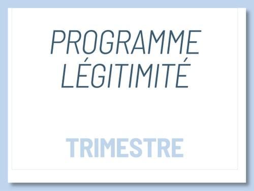 Programme Légitimité - Paiement trimestriel